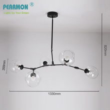 Pearmon Branching Bubble Glass Pendent Lights Retro Loft vintage LED Lamp Glass Lindsey Adelman Room Ceiling Lighting Fixtures(China)
