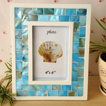 "(Pack/5 Units) Fashionable 5 pcs Handcrafted Ocean Decor 4x6"" Seashell Picture Photo Frames YSPF-015(China)"