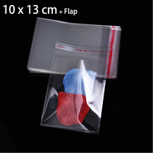 400 Pcs Clear Self Adhesive Seal Plastic Bag Resealable Poly OPP Bags 10x13cm+3cm Flap