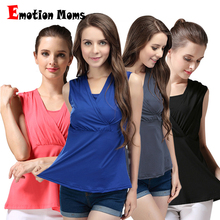 Emotion Moms Summer Maternity breastfeeding Tops nursing clothes pregnancy clothes for pregnant women Vest nursing tank tops(Hong Kong)