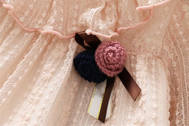 2-7 année filles robe 2018 printemps automne nouvelle mode fleur dentelle princesse robe enfant enfants robe filles vêtements filles vêtements 6