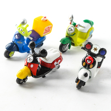 So Cute Mini Metal Model Motorcycles 4Color MikeWazowski Mickey Motorbike Figures Toys Boys Gifts Kids Toys Wheel can be moved