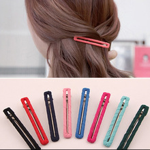 8 different colors stainless steel wrapped with fabric long hair clips for ponytail,Hair accessories for women