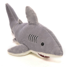 1 Pc Creative Stuffed Dolls Soft Plush Marine Animal Gray Shark Plush Pillow Toys for Children High Quality Christmas Kids Gifts