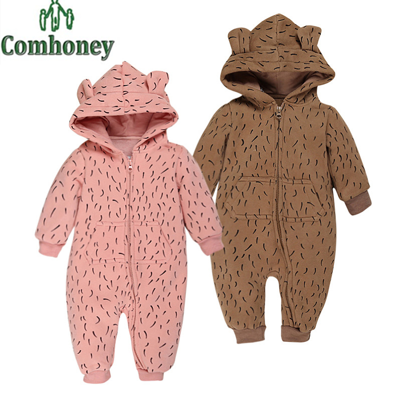 Newborn Baby Rompers Rabbit 3D Ear Hooded Infant Jumpsuit Cartoon Leopard Christmas Bebes Winter Clothes Warm Toddler Outwear<br><br>Aliexpress