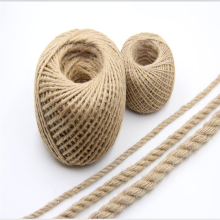 1Roll 100M Natural Burlap Hessian Jute Twine Cord Hemp Rope String 1mm 2mm 3mmRustic Wrap Gift Packing String Wedding Decoration(China)