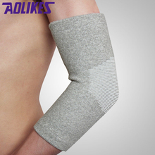 AOLIKES 1PCS Sports Safety Elastic Elbow Knee Brace Sleeve Elbow Pads Guard Volleyball Tennis Elbow Support Absorb Sweat Elbow
