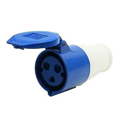 AC 220-250V 32A Water Proof IEC309-2 2P+E Industrial Jack Socket Blue<br><br>Aliexpress
