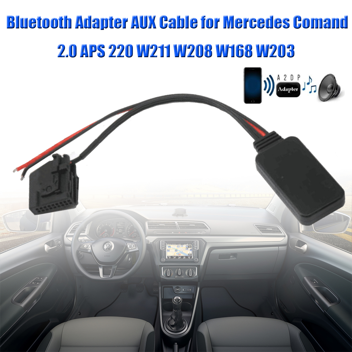 Detail Feedback Questions About Auto Bluetooth Adapter Aux Cable For Mercedes W203 Phone Wiring 1 X Comand 20 Aps 220 W211 W208 W168