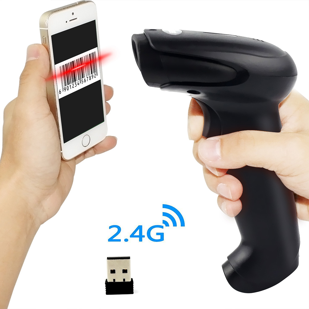 Symcode 1D CCD 2.4G Wireless USB Bar code Reader with 100Meters(330ft) Wireless Transfer Distance title=