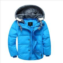 4-12 Year Boys Winter Outerwear 2017 New Casual Hooded Thick Warm Kids Windproof Jackets for Boys Solid Childrens Down Coat