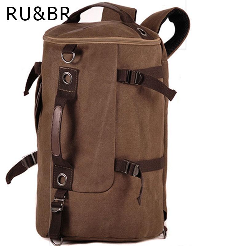 RU&amp;BR Large Capacity Man Travel Bag Leisure Mountaineering Backpack Men Bags Canvas Bucket Shoulder Bag<br><br>Aliexpress
