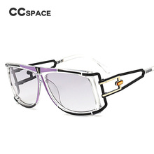 CCSPACE Beautiful Hollow Frame Eye Glasses Frame Men Women Personalized Fashion Eyewear Optical Spectacle Frames SU161(China)