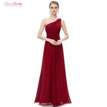 [Clearance Sale] Burgundy Prom Dresses Ever Pretty Long Maxi Elegant Slimming Stylish Shining HE09905 Prom Dresses 2017(China)
