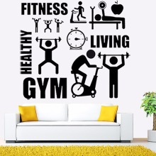 Exercise Stickers Gym Wall Decal Sticker Sport Motivation Fitness Gym Wall Mural art Decal Home Decoration A40