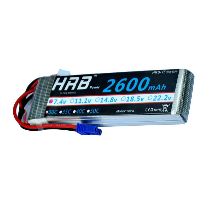 HRB Lipo Battery 7.4V 2600mah 30C Lipo Battery Akku Bateria For RC Hubsan H501S 4-xis FPV Quadcopter Helicopter<br><br>Aliexpress