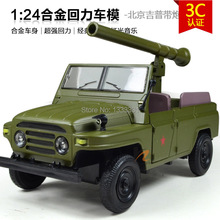 free shipping 2015 1:24  Pull Back Acousto-optic Toys for kids  Alloy Antique Car Model Wholesale for Army Jeep BEIJING JEEP