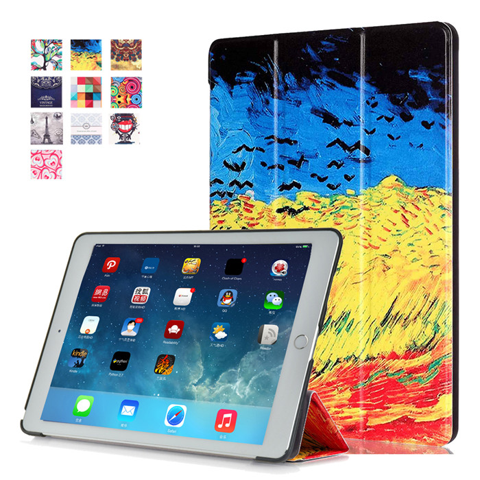 50Pcs New 2016 PU Leather Stand Cover Case for iPad Pro 9.7 + 50 Pcs Screen Protector Gift Multi Color Tablet Case<br><br>Aliexpress