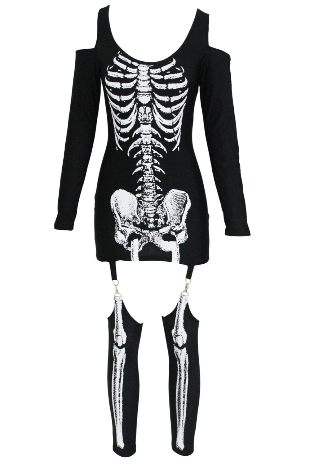 X-rayed-Halloween-Off-shoulder-Skeleton-Dress-Costume-LC89025-2-2