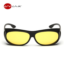 UVLAIK Men Polarized Sunglasses Over Wrap Arounds Sun Glasses Men Wrap on Myopia Eyeglasses Driver Night Vision Goggles Sunglass(China)