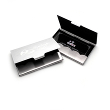 Top Quality !! Business cards ID Credit Card Case Metal Fine Box Holder Stainless Steel Pocket,Design Your Logo/name/email(China)