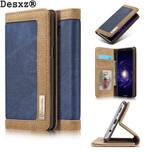 Buy Desxz Phone Case Samsung Galaxy S8 S8 Plus Luxury Retro Jeans Cloth PU Stand Flip card Card Holder Cover Bag for $8.99 in AliExpress store