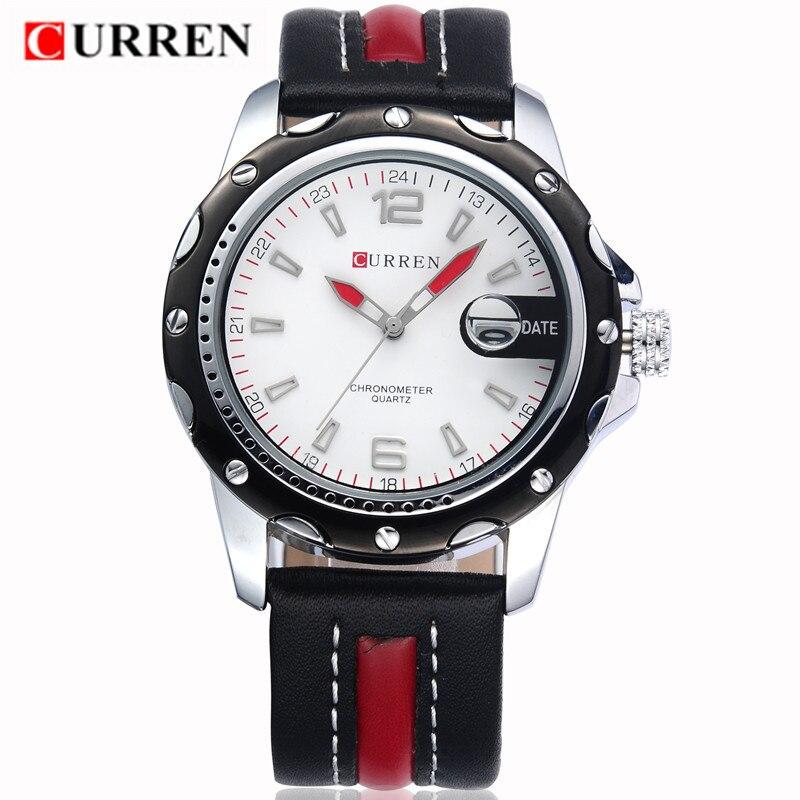 2017 LUXURY Curren Brand Quartz gold Watches Deluxe Men leather watches women Wristwatches Gifts men wristwatches 8104<br><br>Aliexpress
