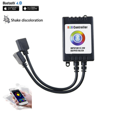 Bluetooth 4.0 RGB Controller DC12V 24V Black / White for 3528 5050 2835 5730 LED Strips Compatible with IOS 6.0 & Android 4.0