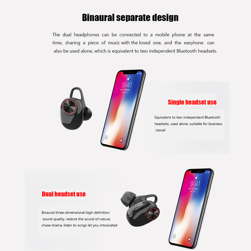 XLSTO Wireless Bluetooth Headphones Sport Earbuds TWS Earphone with Microphone Charging Box Subwoofer audifonos for Mobile Phone (2)