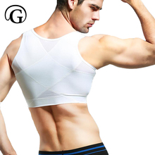 PRAYGER Men Gynecomastia moobs Shaper Slimming Chest Control Boobs Shapewear Extra Firm Undergarments Hook Slim Stomach Girdles