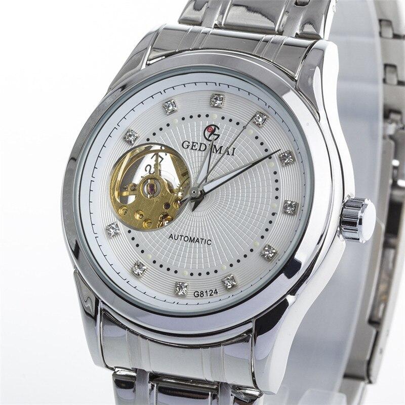 GEDIMAI Gold surface Relojes Hombre 2017 Mens Watches Top Brand Luxury waterproof mechanical watch Clock Men Wristwatches<br>