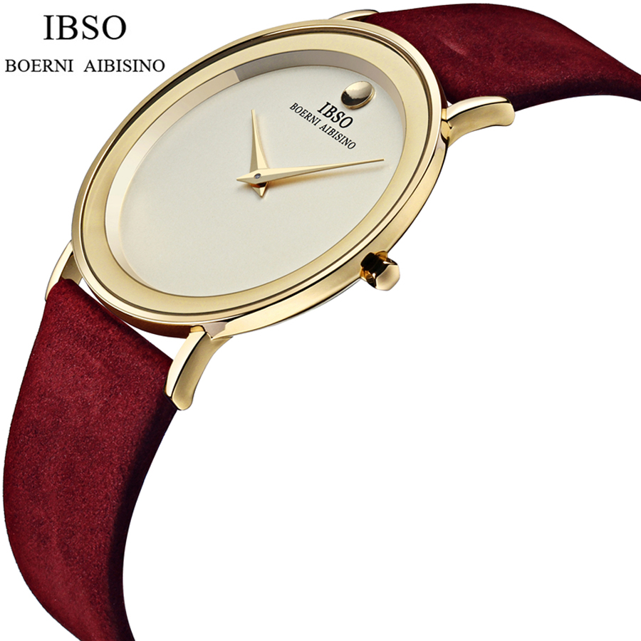 2016 relojes hombre ultra slim Top brand Quartz Watch men Casual Business JAPAN IBSO Leather Analog Watch Mens Relogio gift<br>