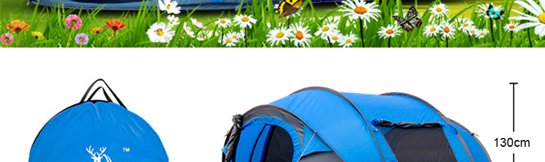 HYL camping pop up tent large 3-4 person windproof (6)