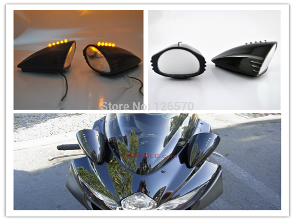 Led Integrated Turn Signal Side Mirrors For Suzuki Gsx Katana Gsxr 600 750 1000