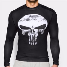 Men Clothing Fitness tshirt 3D Superman/Captain America Long Sleeve T Shirt Crossfit Compression - Fashion men's clothes brand store