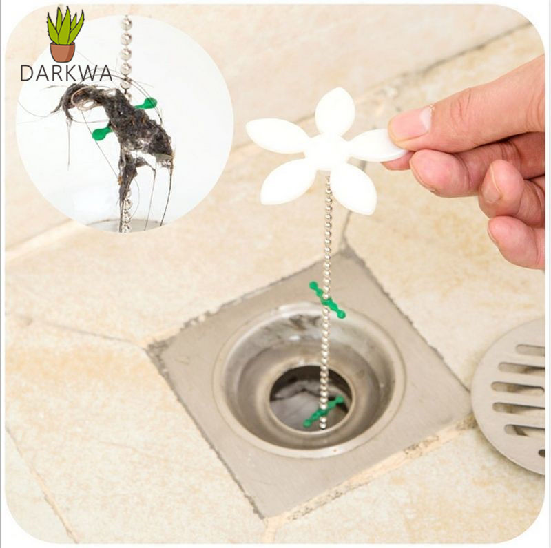 Bathroom Hair Sewer Filter Drain Outlet Kitchen Sink Filter Strainer Drain Cleaners Anti Clogging Floor Wig Removal Clog Tools(China)