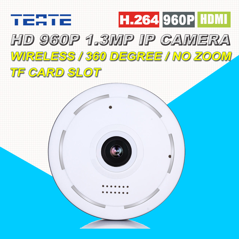 960P HD 1.3MP 360 Panoramic P2P Plug Play Wireless IP Camera with two way audio TF Micro SD Card Slot Free APP for 100sqm office<br>