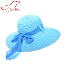 Summer Hat Beach Hat Sun Hat Ladies Packable Ribbon Sun Hat   Matching  Chiffon Scarf S10-3481 1dd2b6fda243
