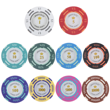 MagiDeal Dollars Par Value Monte Carlo Poker Room Label Casino Clay Chips High quality Poker Chips Gambling Game Pub Accessory