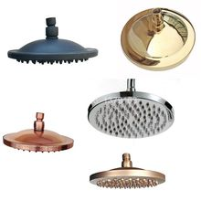5-models Bathroom 8 Inch Water Saving Round Top Rain Shower Head Bathroom Fitting ashset001(China)