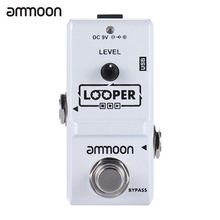 ammoon AP-09 Nano Series Loop Electric Guitar Effect Pedal Looper True Bypass Unlimited Overdubs 10 Minutes Recording with Cable