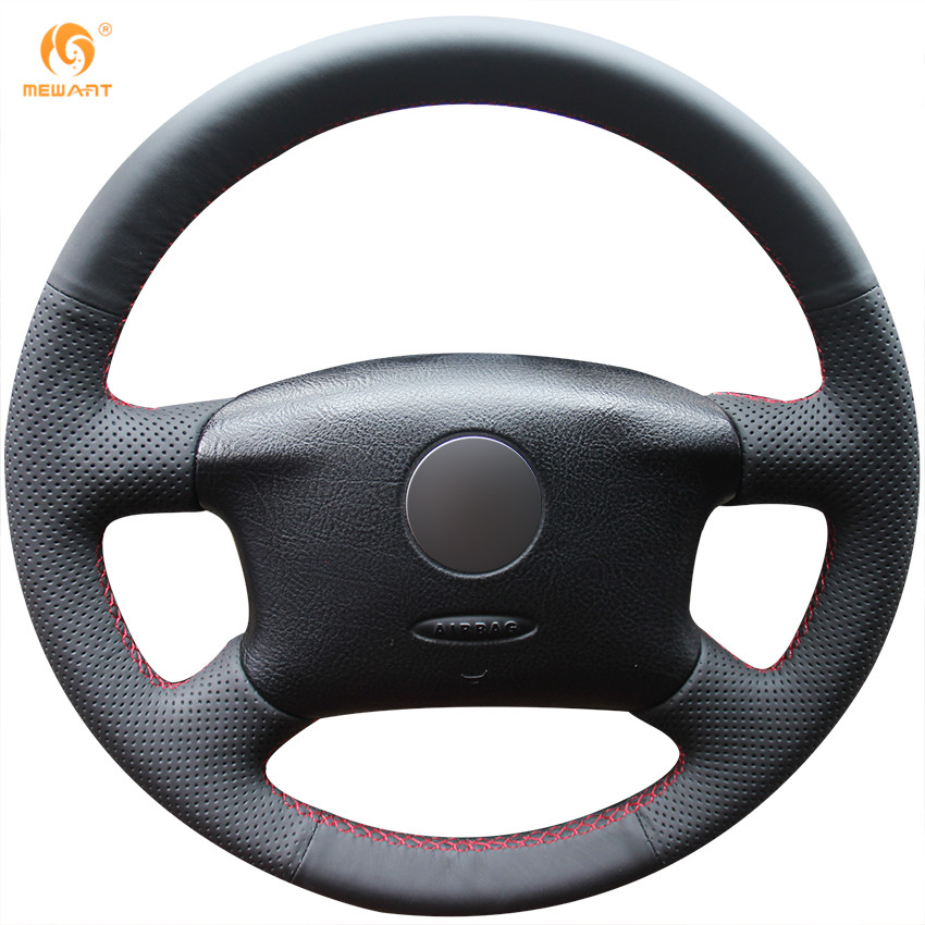 Mewant Black Artificial Leather Car Steering Wheel Cover for Volkswagen Passat B5 VW Passat B5 VW Golf 4 Skoda Octavia 1999-2005(China (Mainland))