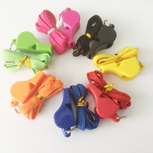50pcs/Lot fox40 Whistle Plastic FOX 40 Soccer Football Basketball Hockey Baseball Sports Referee Whistle Survival Outdoor(China)