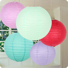 Wholesale New (5pcs/Lot) 8''(20cm) Round Chinese Lantern White Paper Lanterns For Wedding Party Birthday Decorations