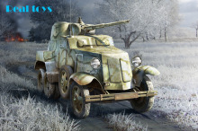 Hobby Boss MODEL 1/35 SCALE military models #83840 Soviet BA-10 Armor Car plastic model kit