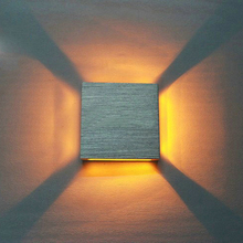 3W  Aluminum Square Led Wall Lamp AC85-265V COB High Power Led Modern Home Lighting Indoor And Outdoor Decoration Light