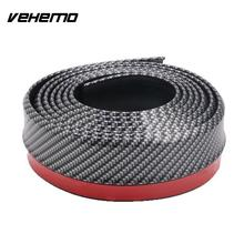Vehemo 2.5m Vehicle PVC Carbon Fiber Front Bumper Lip Splitter Chin Spoiler Trim Protector Black + Red(China)
