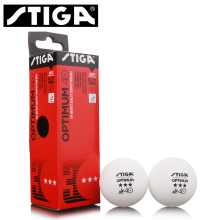 12 Balls/lot STIGA Original 3-Star OPTIMUM 40+ Poly Seamed Table Tennis Balls Plastic Ping Pong Balls ITTF Approved