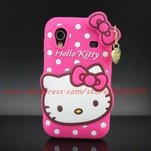 For Samsung Galaxy Ace S5830 Cute Polka Dot Hello Kitty Soft Silicone Cell Phone Case Cover