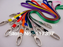 promotional gifts wide 1CM neck Strap lanyard ID Card Cell Phone Badge MP5 Holder Lobster Clasp 8 color option(China)